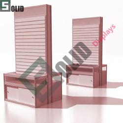 다양한 기능을 갖춘 Slat Wall 4 Sided Tower 디스플레이/회전 디스플레이 슬래트 벽면 디스플레이 스탠드