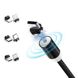 Câble de charge magnétique de vente chaude 3 en 1 Câble USB de type C Magnétique accessoires pour téléphones cellulaires Accessoires de téléphone mobile