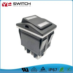 Interruptor da Alimentação Eletrônica IP67 Luz de LED aceso Botão automotivo micro interruptor basculante para carros