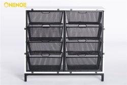 Onenoe muebles modernos de almacenamiento del organizador de grandes Cestas de malla metálica, armario con 8 cajones para el Salón Dormitorio Oficina Hotel
