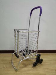 China fábrica de metal plegada Carrito de compras con mango subir escaleras Cart