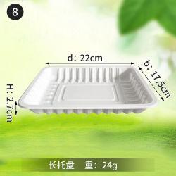 Het milieuvriendelijke Beschikbare Verse Dienblad van het Maïszetmeel Biodegradabel voor het Dienblad van het Vlees