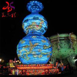 Fertigkeit-Metallrahmen mit LED-Zeichenkette-Licht-Vasen-Form-Motiv-Beleuchtung