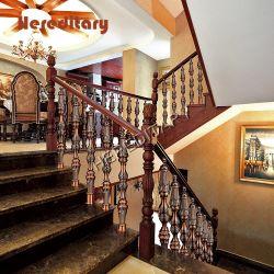 Бронзовые декоративные колонны из алюминия и ретро Роман лестницы Balustrade Post