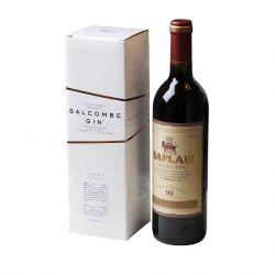 Venda por grosso de papel de luxo Caixa Branca reciclado Caixa de vinho a impressão de Design Personalizado
