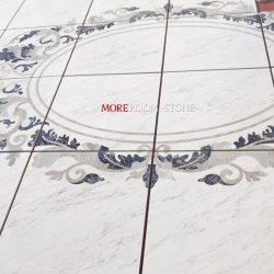 Interieur lobby Design Custom Azul Bahia Graniet Inlay Waterjet Marble Medaillon voor de vloer