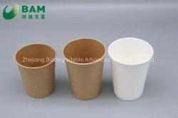 100% biodegradierbares bequemes kompostierbares Wegwerfnahrungsmittelgrad-Maisstärke-Plastikcup für Eis-Kaffee-Getränk-Saft