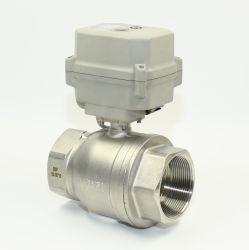 2-дюймовый DN50 нержавеющая сталь 12V под действием электропривода шаровой клапан ДНЯО