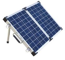 مجموعة اللوحة الشمسية الأحادية 110 واط لبطارية 12 فولت قابلة للطي (الوجه الخارجي دون إنذار)