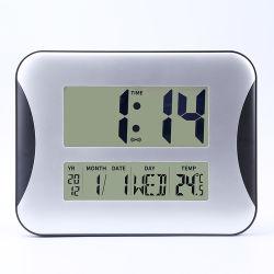 Grande número digital LCD Desktop Despertador com calendário de temperatura