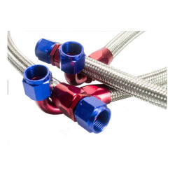 Steelステンレス製のUniversal An8 Oil Cooler Hose NBR/CPE Synthetic Rubber Ss Braided Hydraulic Assembly Hose An8 Line Hose