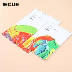 ورق حلزوني من نوع ورق مقاس A4 مقاس A5 A6 فارغ ذو غطاء صلب مخصص عالي الجودة لوحة الرسم كتاب الرسم