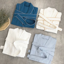 高品質の100%とかされた綿のワッフルの浴衣の大人ローブ