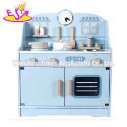 Großhandel Baby Blau Holz Kochen Bank Küche Spielzeug für Kinder W10c615