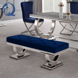 قاعدة معدنية عثمانية تحتوي على مقعد ترفيهي مع وحدة PU أو قماش لمدة أثاث غرفة الطعام