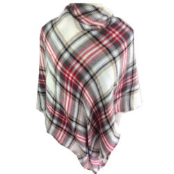Europa-Form-ahmen elegante Plaid-Damen Kaschmir-Schal nach