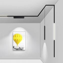 مصباح موضع جنزير مغناطيس مجوف لا يحتوي على سطح ثلاثي الصمامات مثبت على السطح بقدرة DC48V ضوء مصباح LED ضوء موضع مسار نظام قضيب المسمار المغناطيسي LED