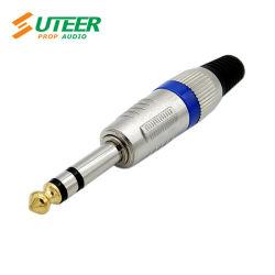 "6,35 mm (1/4"") tomada macho estéreo plug conector do cabo de telefone"