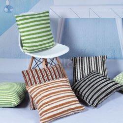 TextielPu Geweven Gestreepte Vierkante Moderne werpt Openlucht van het huis Hoofdkussens