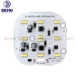 Laag Voltage gelijkstroom 10-36V 18W 130 Lm/W Ra80 Lineaire Vierkante LEIDENE van het Aluminium SMD PCB PCBA van de Module voor De Lamp en de Voertuigen van de Werktuigmachine