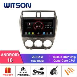 Witson Android 10 Auto Voiture Lecteur DVD pour Honda City 2008-2011 (A/C) manuel