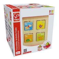 La conception personnalisée imprimés Boîte de papier de l'emballage des jouets de bloc avec fenêtre