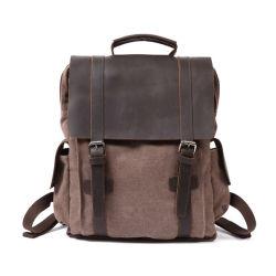 Loisirs sac à dos en cuir de toile lavée vintage RS-2001046
