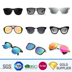 Kundenspezifischer preiswerter fördernder Firmenzeichen-Abdruck brannte Retro klassisches Form-Zusatzgerät Plastikmetallneon-UV400 widergespiegelte Ultralight Leistung polarisierte Objektiv-Sonnenbrillen ein