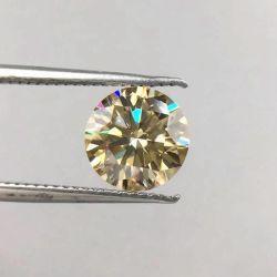 De bulk Gele Kleur van Moissanite van het Karaat van de Verkoop om Synthetische Diamant Moissanite
