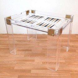 Fabricante China tablero de ajedrez magnético de metacrilato y cristal Backgammon/mesa de comedor