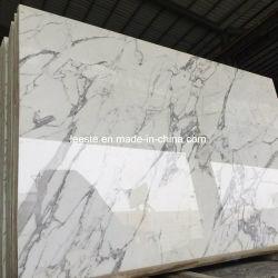 Polido chineses Calacatta Oro/Royal/Neve/Statuario/Arabescato estatuária/laje de pedra mármore branco piso em mármore Tile/Bancada/Hotel