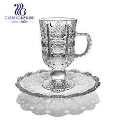 고품질, 투명 조각의 디자인, 술잔, 찻잔 세트 접시기 포함(TZ-GB09D3404XTY)