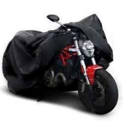 """Accessoire de moto 150D avec protection étanche résistant All-Weather 7.87"""" bande réfléchissante, boucle de fond et couvercle Lockholes pour moto inclus"""