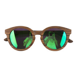Logo personnalisé en bois de lunettes de soleil Lunettes de soleil polarisées Mode UV400