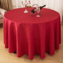 """Le restaurant de mariage 120"""" Nappe ronde capot table Table en tissu de polyester"""