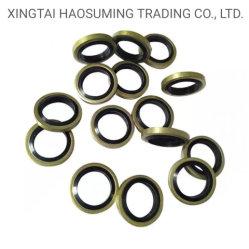 メートル/インチゴムをNBR/FKM +金属のOリングによって結ばれるシールの円形の洗濯機の混合物のガスケットのパッド大きさで分類する