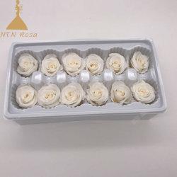 Mayorista fabricante siempre rosas blancas para la boda como telón de fondo piezas centrales