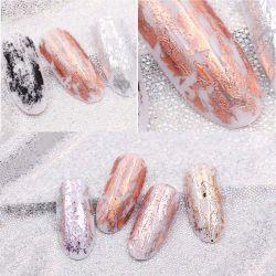 Or Rose laser à finition mate de feuilles de transfert de décorations d'ongles nail art enveloppements polonais Autocollants ongles autocollants de beauté accessoires de bricolage
