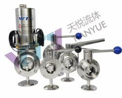 Weld端、Male端、Clamp端(NORM SMS、DIN、RJT、メーコン)のステンレス製のSteel Sanitary Butterfly Valve