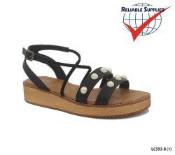 Mode Femmes des chaussures plates Gladiator Croix Stubs Strappy sandales d'été
