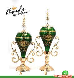 Supporto di candela di vetro personalizzato fabbrica del metallo per la decorazione domestica del piano d'appoggio
