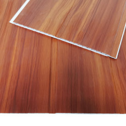 di cartello di legno della scanalatura di plastica del comitato di soffitto del PVC della parete di Lambri di spessore di 7mm