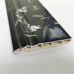 Design 3D de mármore PVC plástico vinílico moldagem da placa de Rodapé