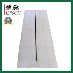 まっすぐなジッパー白いPVC安く使い捨て可能な葬儀の死体の遺体袋