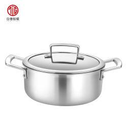 [26كم] [تيتنيوم] [ستينلسّ ستيل] ألومنيوم [ثري-لر] حساء إناء مخزون إناء يطبخ إناء