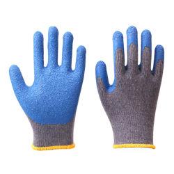 Дешевые цены 10g 2пряжи Polycotton вязаные рукавицы безопасности с покрытием из латекса