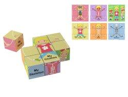 Montessori finge i giocattoli del gioco giocattoli europei EL1614 del bambino di puzzle cubici di legno dei blocchetti delle 9 parti