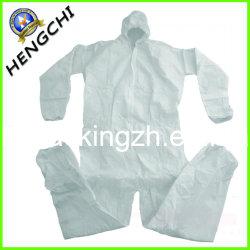 Vêtements de protection, non tissées Diposable Coverall/Robe de protection (SC0051)