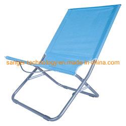 최신 판매 낮은 시트 비치용 의자는, 바닷가를 위한 입히는 금속 프레임 접는 의자, 옥외 2륜 경마차 로비 또는 야영을 강화한다
