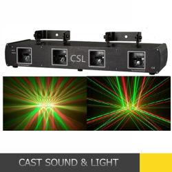 4 Глаза лазерный RGB освещения сцены DJ оборудование
